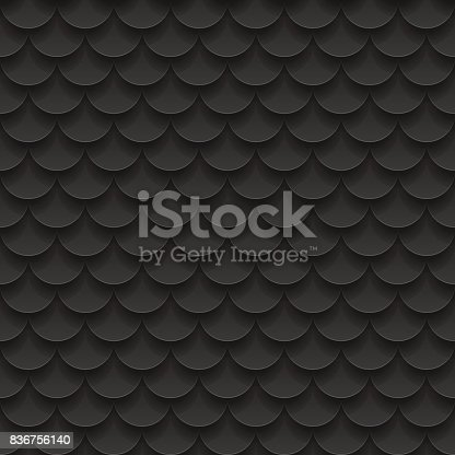 istock Tile, fish scales seamless pattern. Abstract background. Vector Illustration 836756140