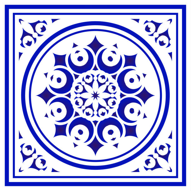 tile pattern - sicily stock illustrations