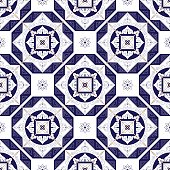 Tile pattern vector with diagonal ornaments