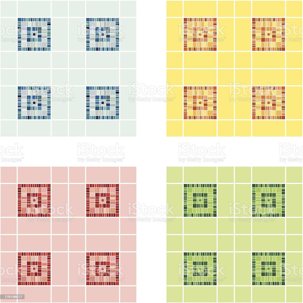 Tile set royalty-free stock vector art