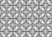 tile with folk style floral ornaments on a white background for coloring, drawn vector