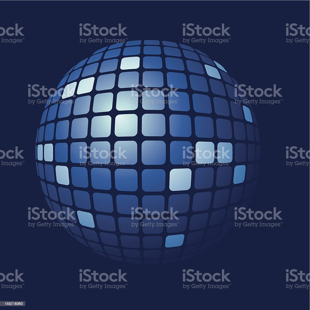 tiled blue sphere vector art illustration