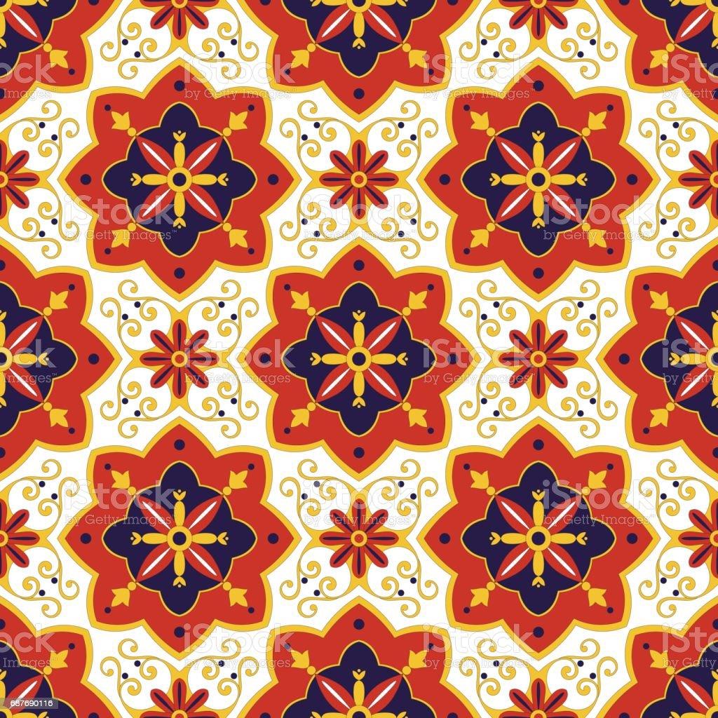 Tiles pattern vector vector art illustration