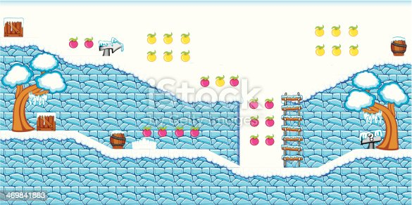 istock 2D Tileset Platform Game 14 469841863