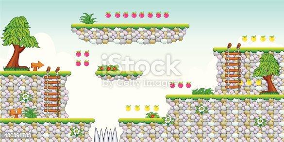 istock 2D Tileset Platform Game 19 480891783