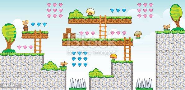 istock 2D Tileset Platform Game 52 538966171