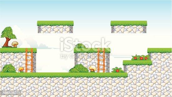 istock 2D Tileset Platform Game 466378071