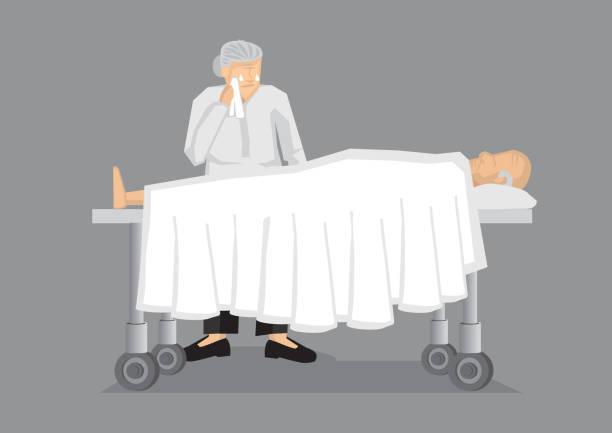 till death do us part vector illustration - old man crying cartoon stock illustrations, clip art, cartoons, & icons