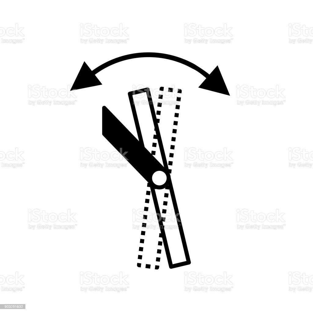Kippen Sie Wandhalterungsymbol Stock Vektor Art und mehr Bilder von ...