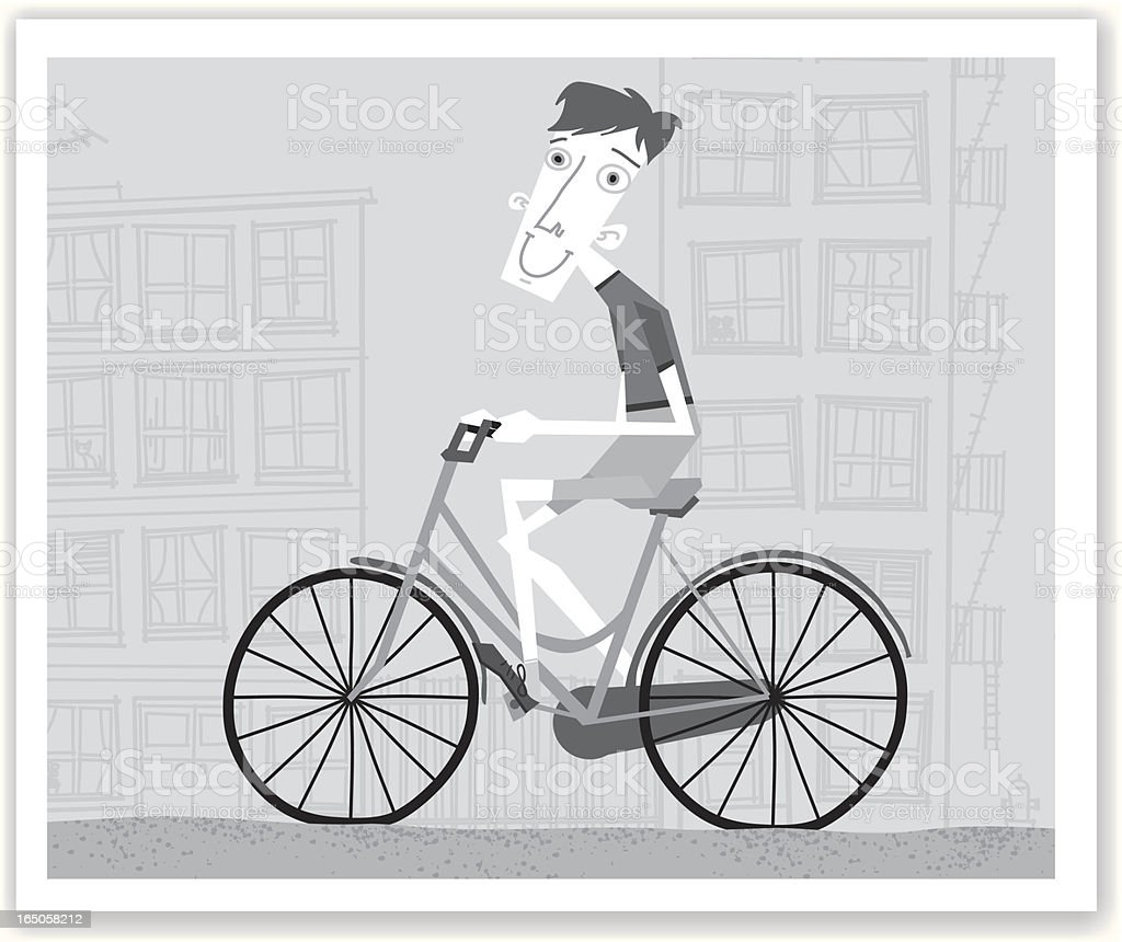 Tim loves to bike royalty-free stock vector art