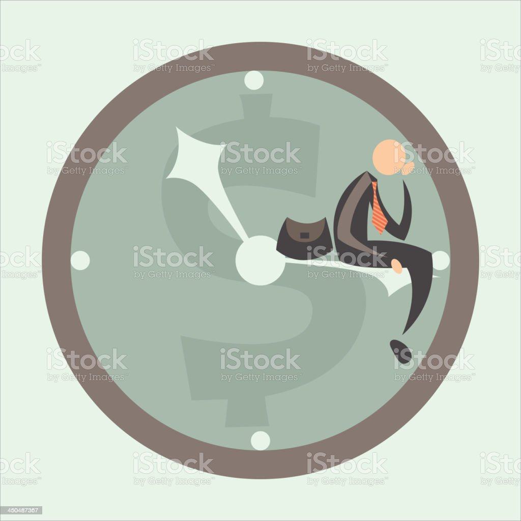 time against business royalty-free stock vector art