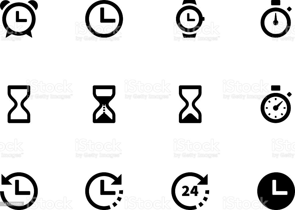 Time and Clock icons royalty-free stock vector art