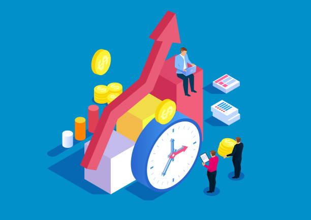 Time and financial management Time and financial management time is money stock illustrations