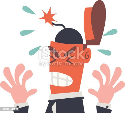 Businessman with Bomb in His Head