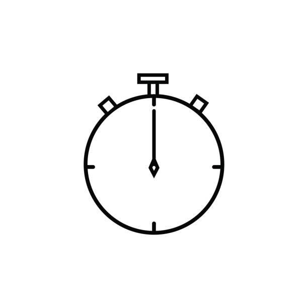 time chronometer linear vector icon vector art illustration