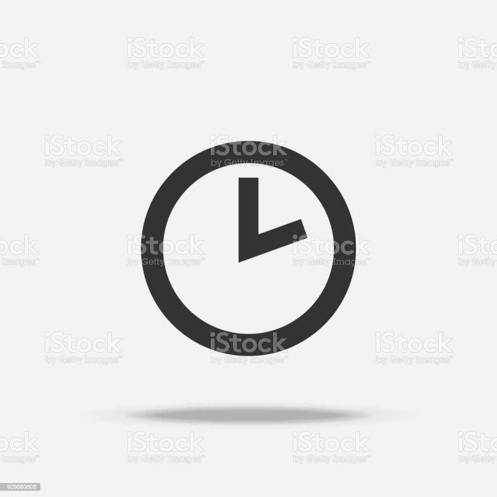 time clock icon object and business concept sign and symbol theme