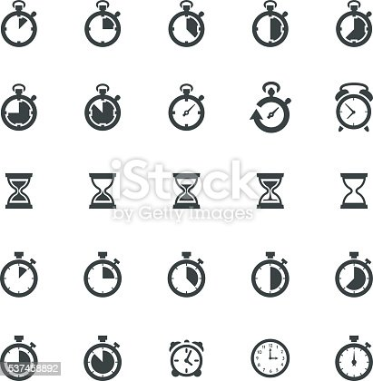 Vector illustration of the 25 business strategy icons