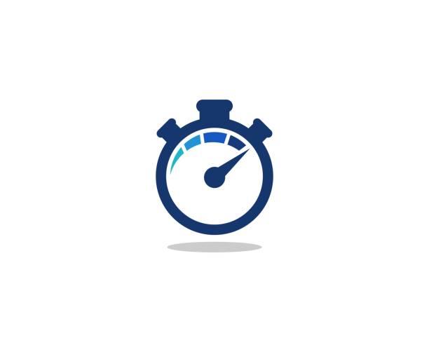 illustrations, cliparts, dessins animés et icônes de icône de l'horloge temporelle - chronomètre
