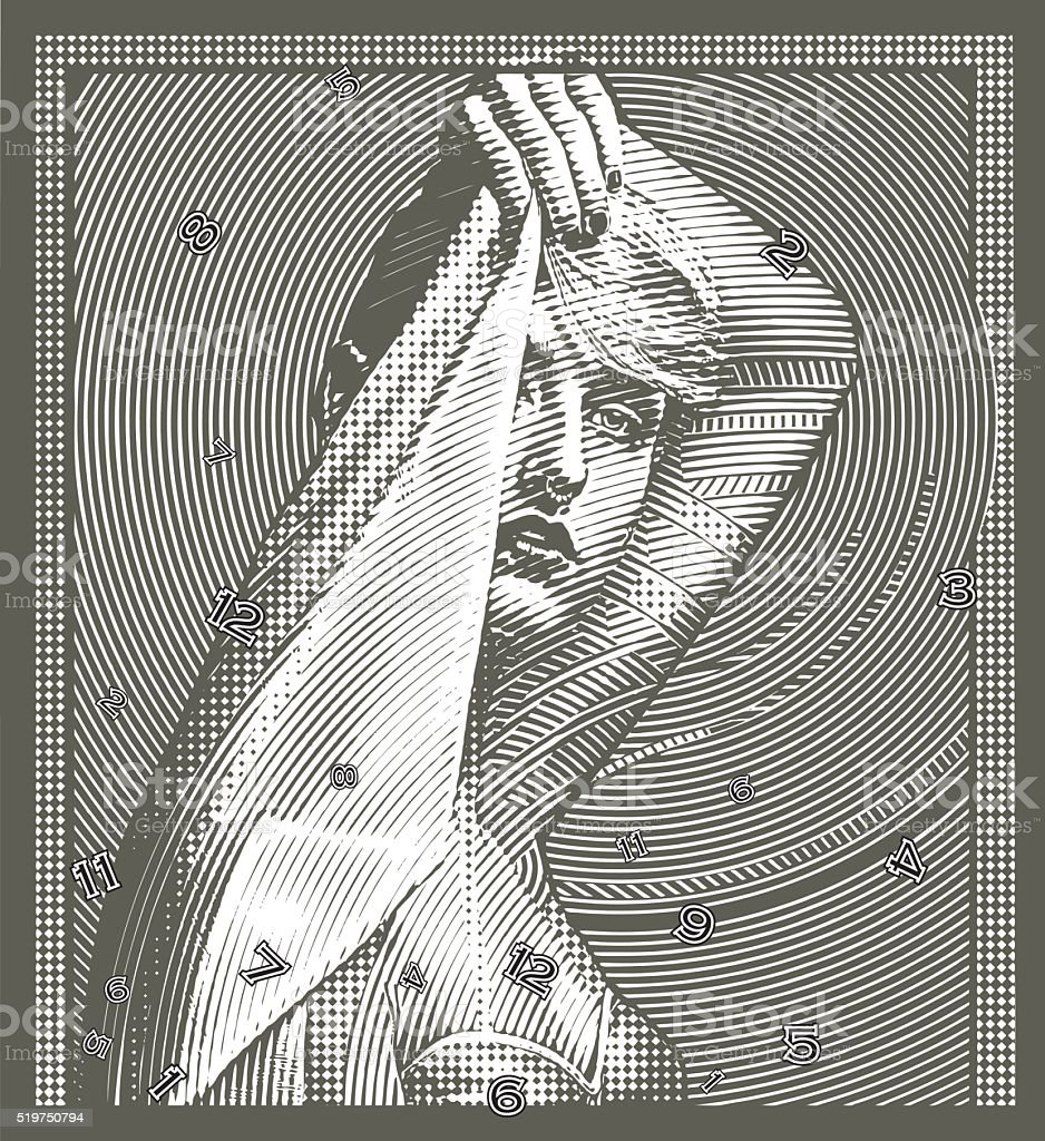 Concepto de tiempo - ilustración de arte vectorial