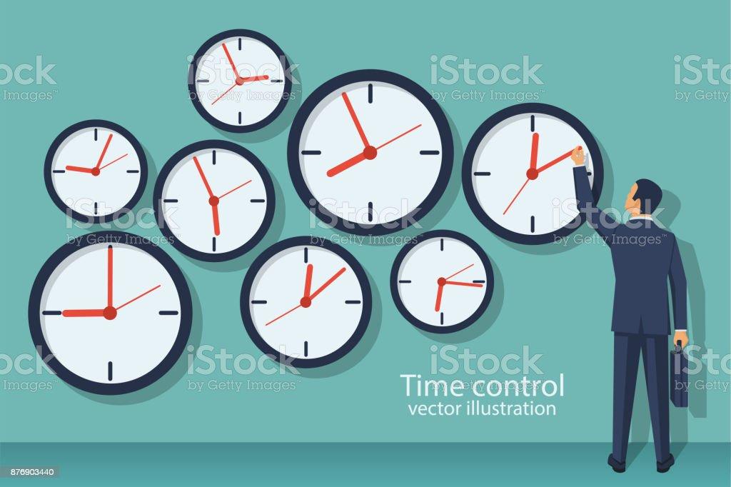 Time control concept. vector art illustration