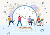 Time Control Project Management Business Poster