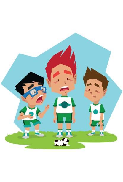 Time de futebol Jogadores de futebol futebol stock illustrations