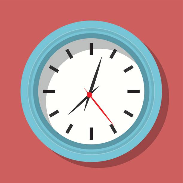 Time design. Clock icon. Flat illustration Time concept with icon design, vector illustration 10 eps graphic. wall clock stock illustrations