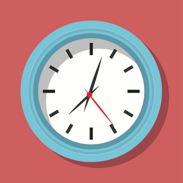 ilustraciones, imágenes clip art, dibujos animados e iconos de stock de diseño de tiempo. icono de reloj. ilustración plana - wall clock