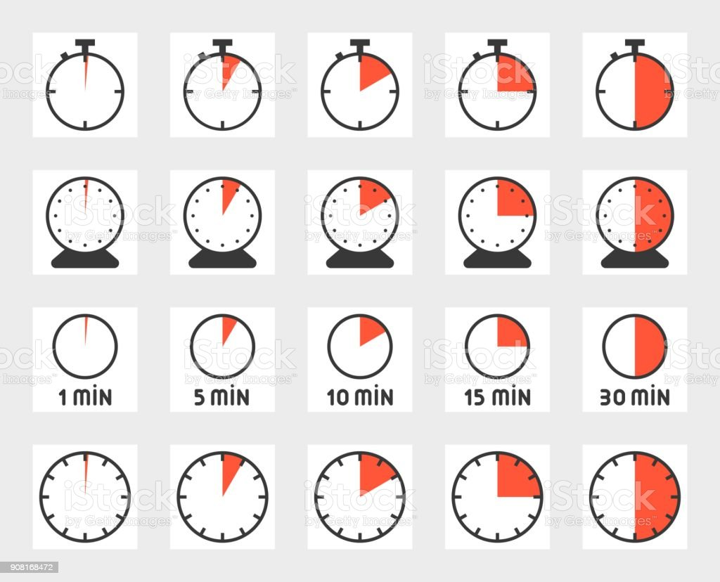 Time duration, pixel perfect icon set, size 128 px , 4 px stroke