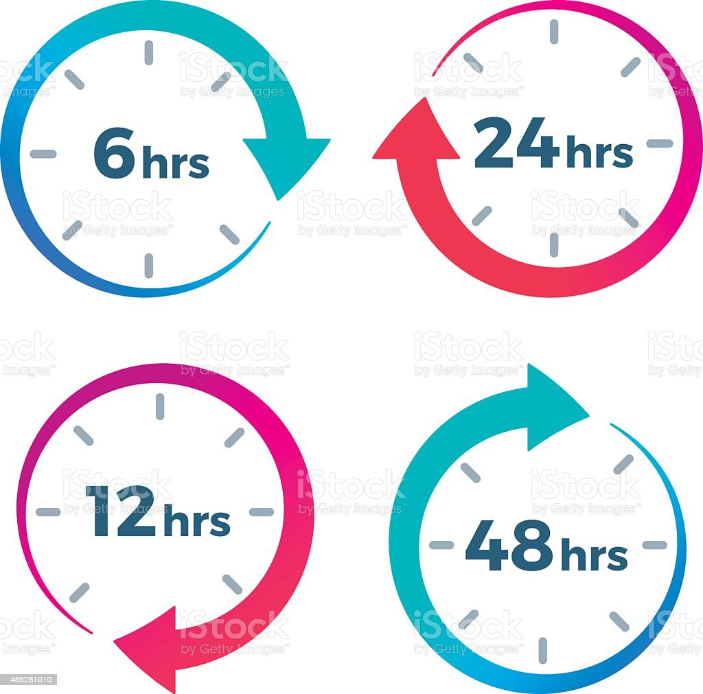 Time Elapsed Arrow Symbols vector art illustration