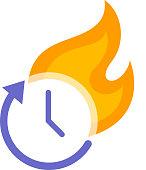 time deadline concept design element
