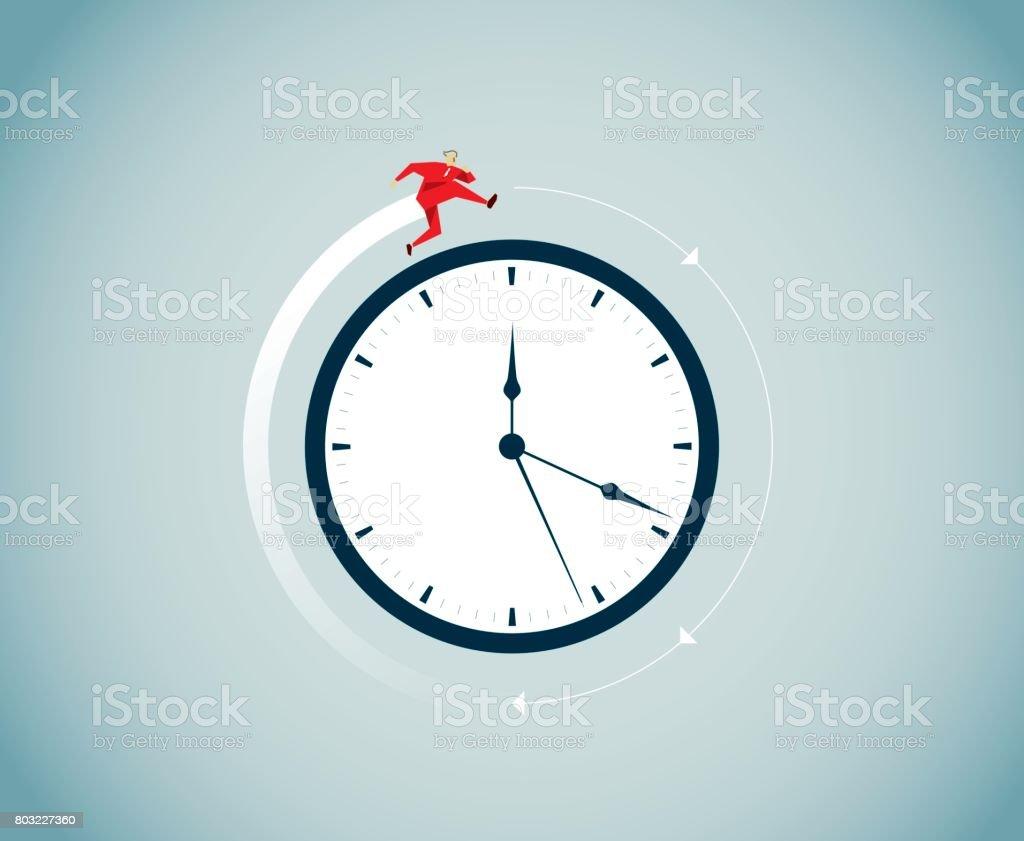 El tiempo vuela - ilustración de arte vectorial