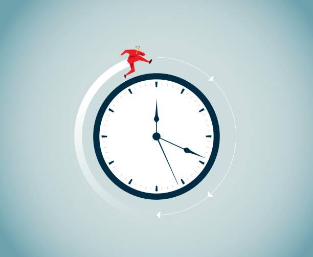ilustraciones, imágenes clip art, dibujos animados e iconos de stock de el tiempo vuela - wall clock