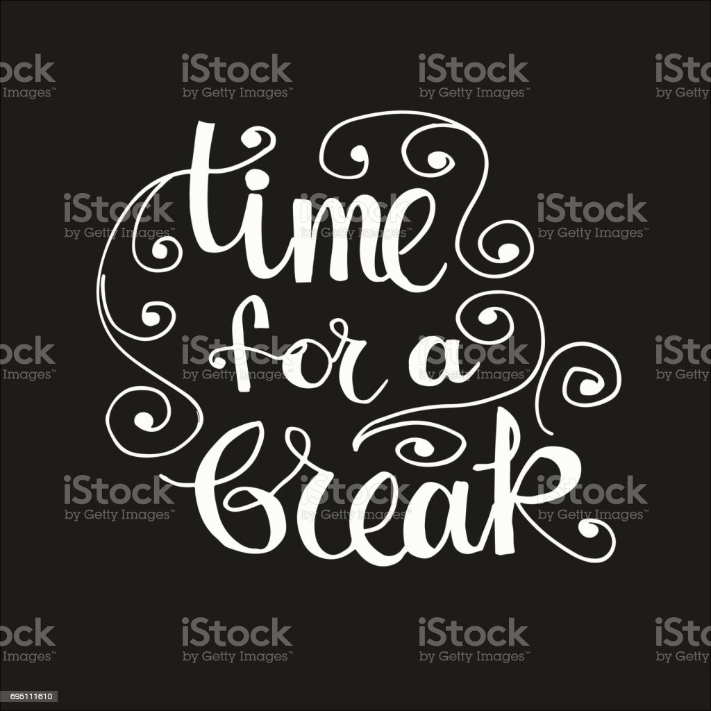 Time for a break vector art illustration