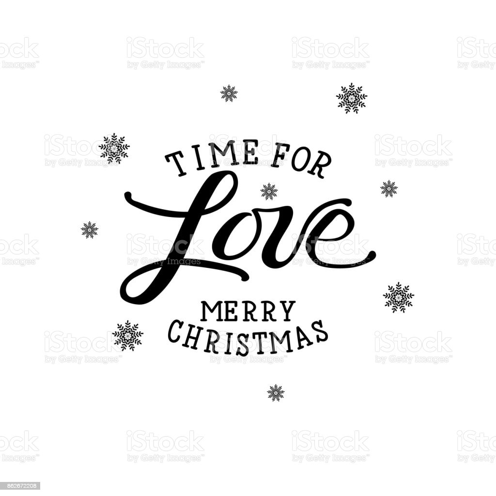 Time For Love Joyeux Noël Imprimer De Vecteur De Vacances De