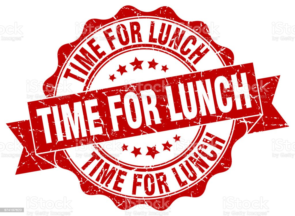 Time For Lunch Stamp Sign Seal Royalty Free