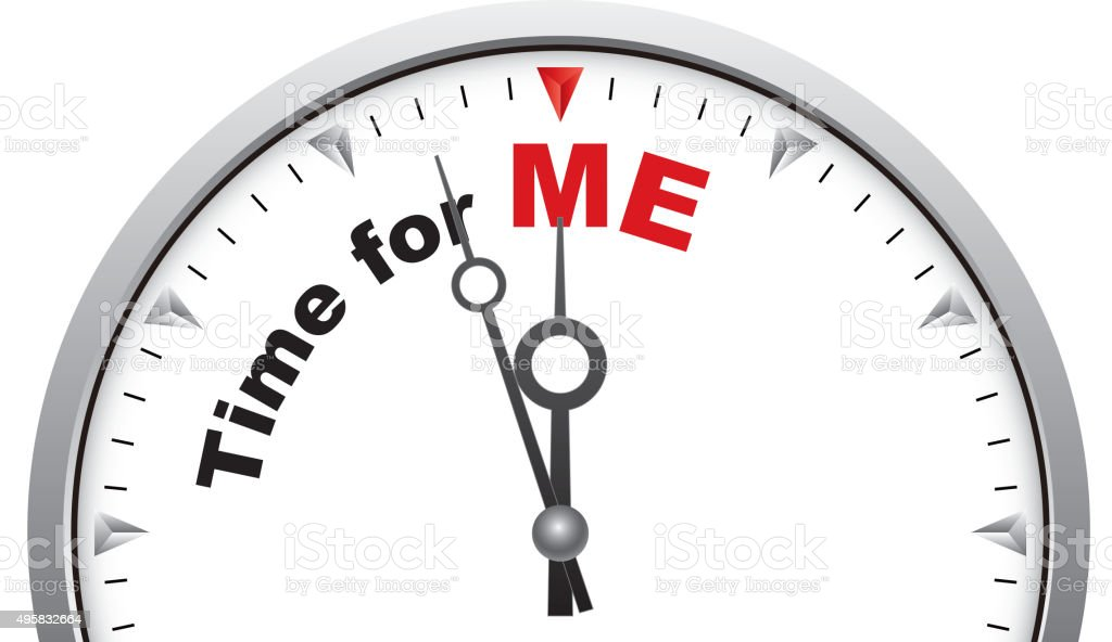 Time for me vector art illustration