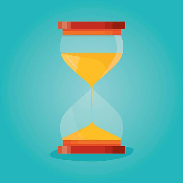 Time hourglass, sandclock process timer - ilustração de arte vetorial