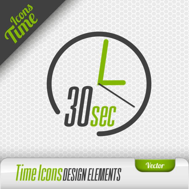Time Icon 30 Seconds Symbol Vector Design Elements vector art illustration