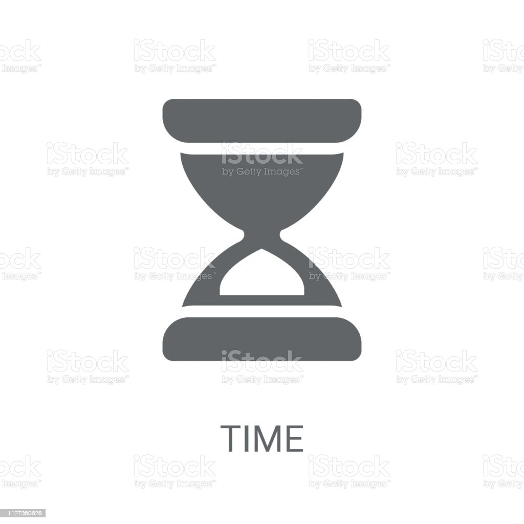 Time icon. Trendy Time logo concept on white background from Human...