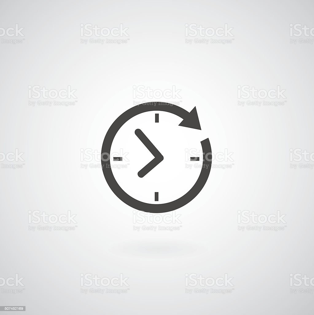 Time icon vector art illustration