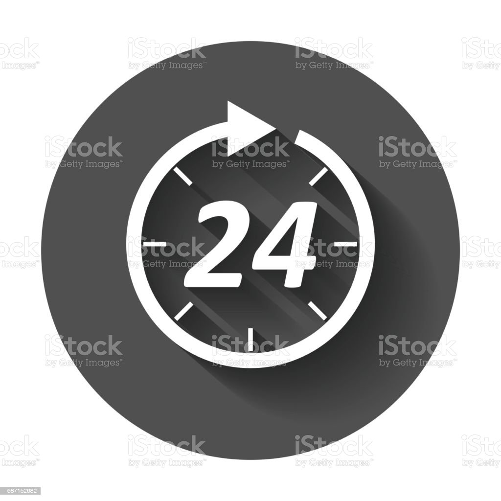 Time icon. vector art illustration