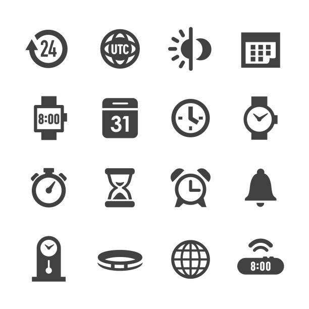 bildbanksillustrationer, clip art samt tecknat material och ikoner med tid ikoner - acme-serien - tidszon