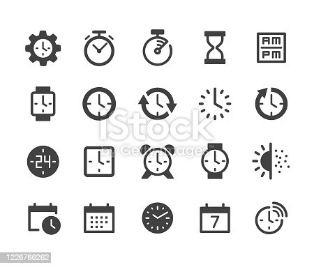istock Time Icons - Classic Series 1226766262