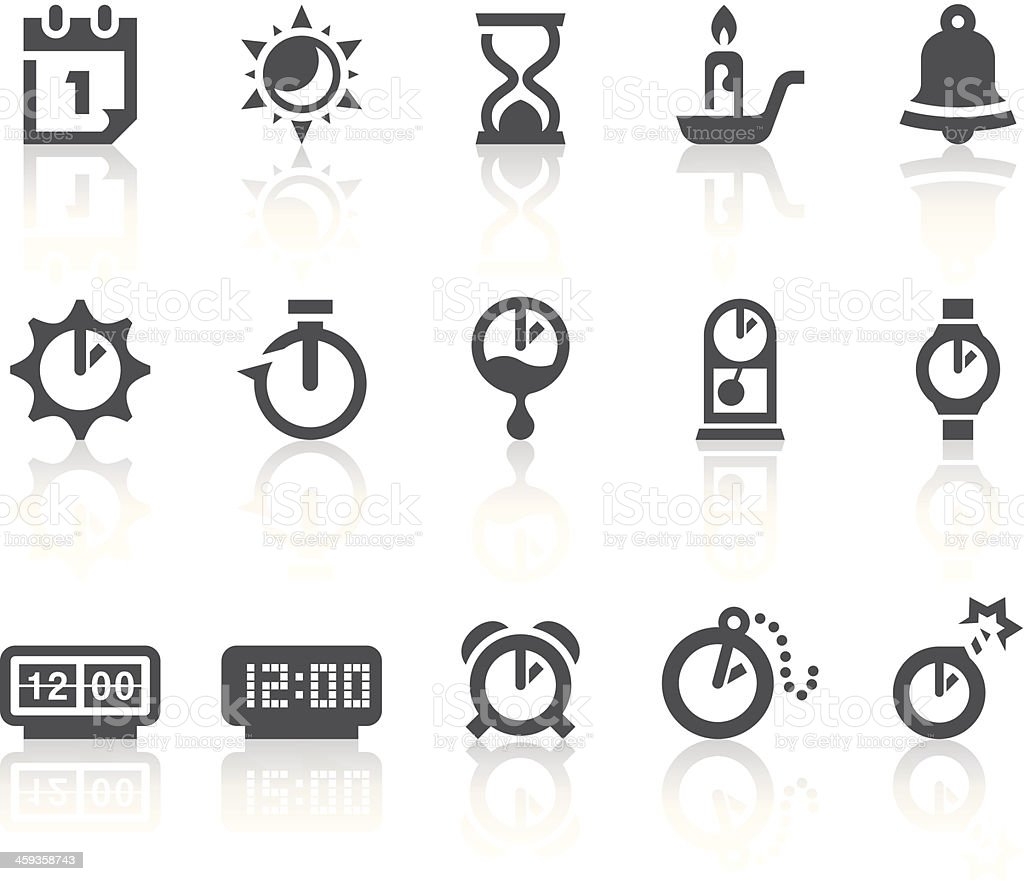Time Icons | Simple Black Series vector art illustration