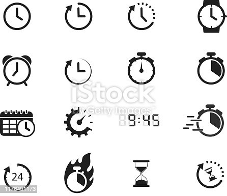 symbols of time icon design element