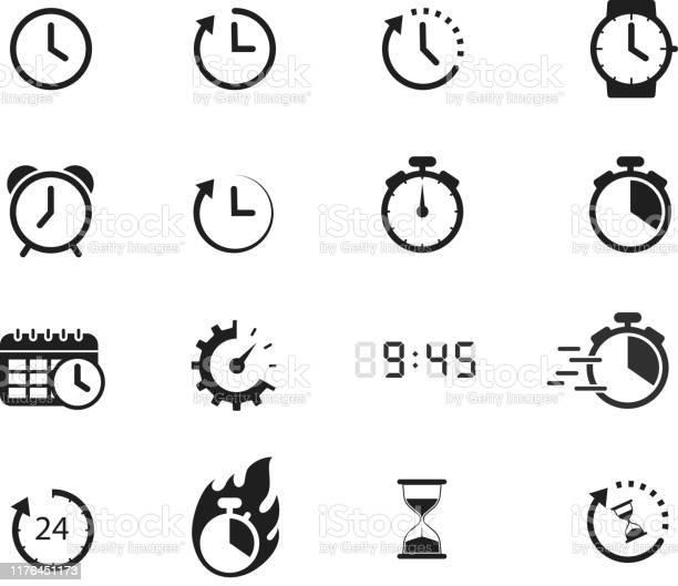 Icônes De Temps Vecteurs libres de droits et plus d'images vectorielles de Affaires