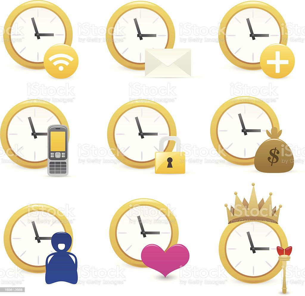 time icons royalty-free stock vector art