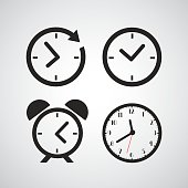 istock Time icons with different time periods in black 466516712