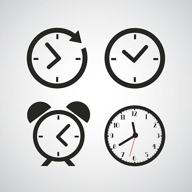 czas ikona - czas stock illustrations